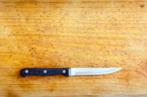 Best serrated paring knife on timber